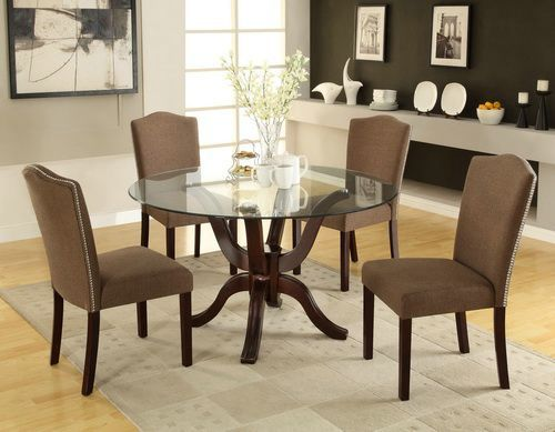 Captivating Cheap Round Glass Dining Room Table