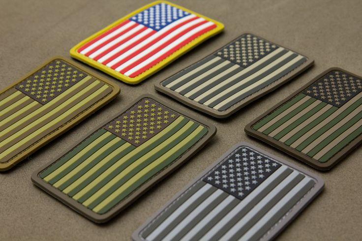 Costom USA flag soft PVC patch with velcro back $0.82~$0.85