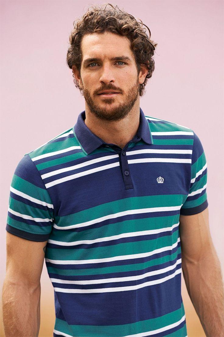 Leg day t shirts men s polo shirt slim - Next Navy And Green Stripe Polo Shirt Ezibuy New Zealand Polo Shirts Onlinemen S