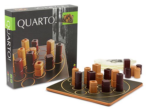 The object of one of the world's most award-winning games is seemingly simple: outwit other players by lining up four pieces with common characteristics. But as with all good-for-your-brain games, there's a catch: your opponent chooses the piece you play. $34.99
