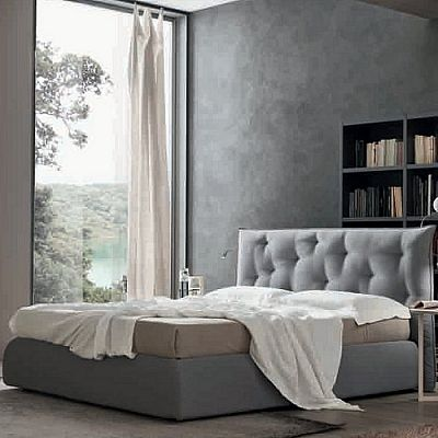 Contemporary, elegant 'Gin' bed by Orme