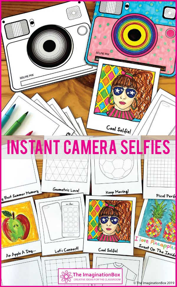 All About Me Camera Snapshots Art Activity With Images School