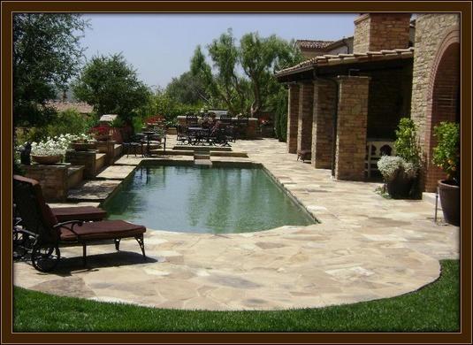 Natural pool remodel in villa park ca driveways patios walkways pool remodels stone for Villa park pasadena swimming pool