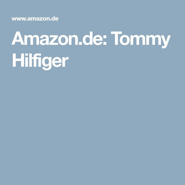 Amazon.de: Tommy Hilfiger