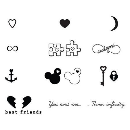 Tattify Best Friends Temporary Tattoos - Bffe (Set of 18)