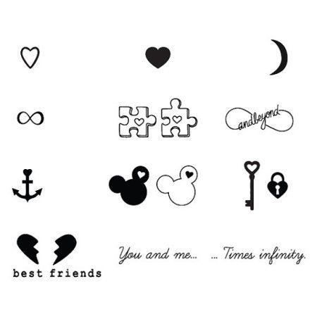 Tattify Best Friends Temporary Tattoos - Bffe (Set of 18)