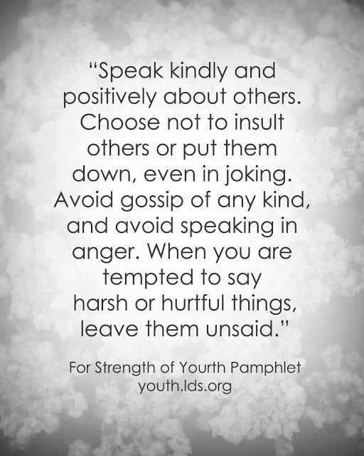 Youth Encouragement Quotes: LDS Quote: For The Strength Of Youth #goodlanguage