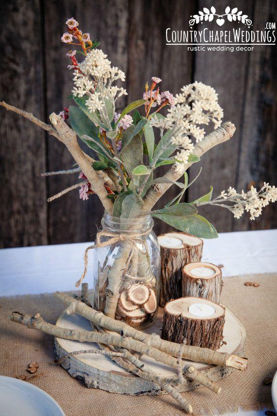Aspen Twig Bundle Rustic wedding centerpiece by CountryChapel