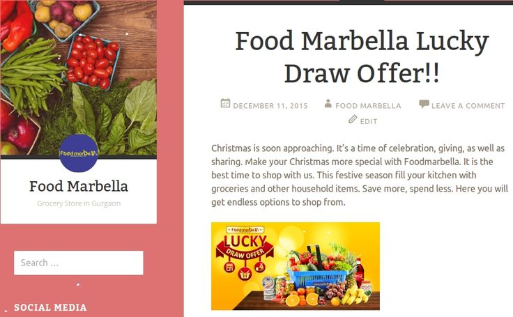 This is the best time to shop with #FoodMarbella & win cashback* of Rs.31000. For more details read our blog here - http://bit.ly/1Ub527w