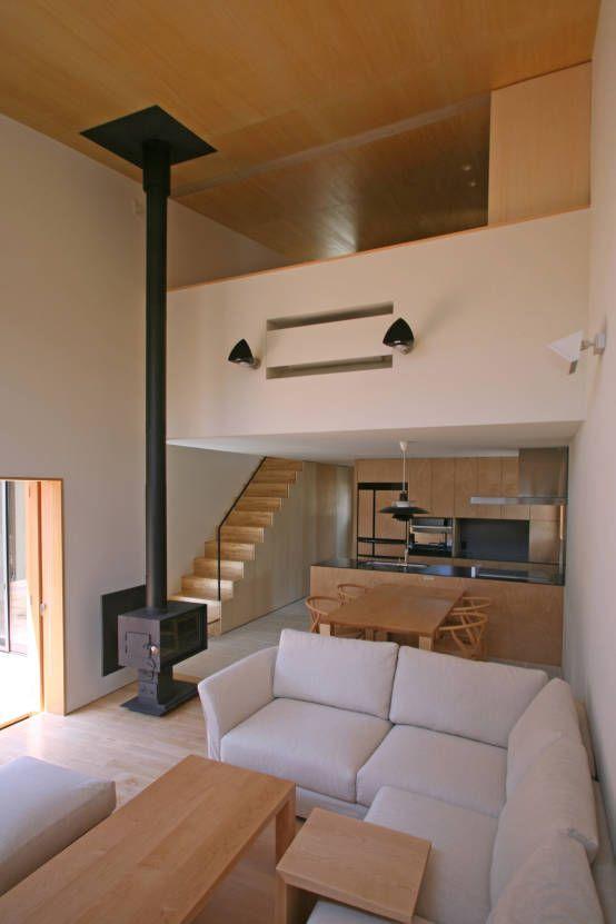 스칸디나비아 거실 by 設計事務所アーキプレイス