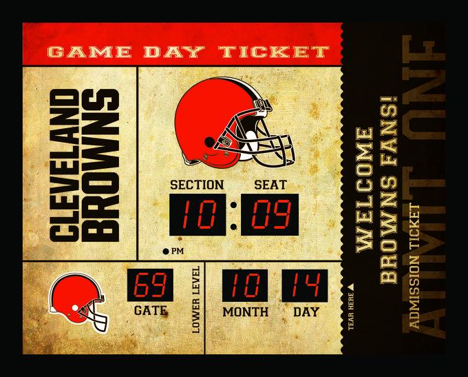 Cleveland Browns Clock - 14x19 Scoreboard - Bluetooth Z157-841242372