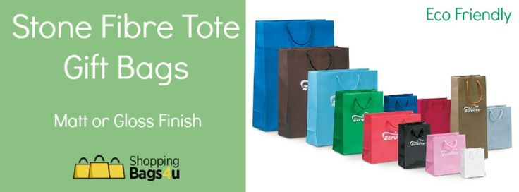 If you're looking for that eco friendly option then look no further! These pulp free stone bags are the perfect alternative. Printed with a soy based ink they are water resistant, degradable and recyclable. All bags come with matching rope handles, matt finish and available in a wide selection of colours.