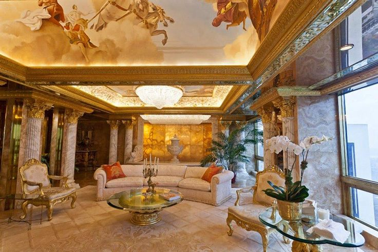 Trump's most famous home is his three-story penthouse high atop the Trump Tower in New York City