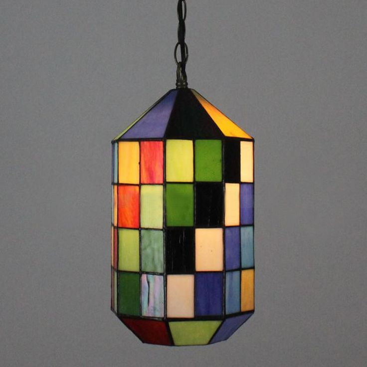 New Mosaic Pendant Light European Style Retro Stained Glass Lamp Restaurant Bar Cafe Mediterranean Bar Single Head Pendant Lamp