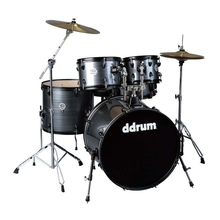DDrum D2P GPS PLAYER GREY PINSTRIPE FULL DRUM SET W/CYMBALS & HARDWARE & THRONE #ddrum