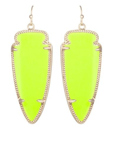 Skylar Earrings in Neon Yellow - Kendra Scott Jewelry
