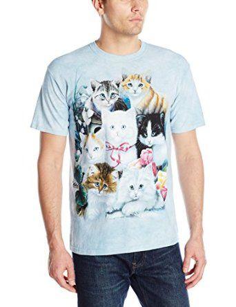 The Mountain Men's Kittens T-Shirt, Blue, Medium