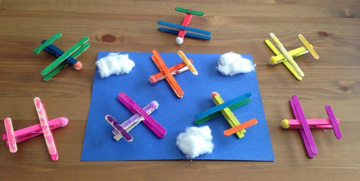 Clothespin Plane Craft - Planes Movie Night - Disney Movie Night