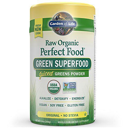 Garden of Life Vegan Green Superfood Powder - Raw Organic Perfect Whole Food Dietary Supplement Original 7.4oz (209g) Powder