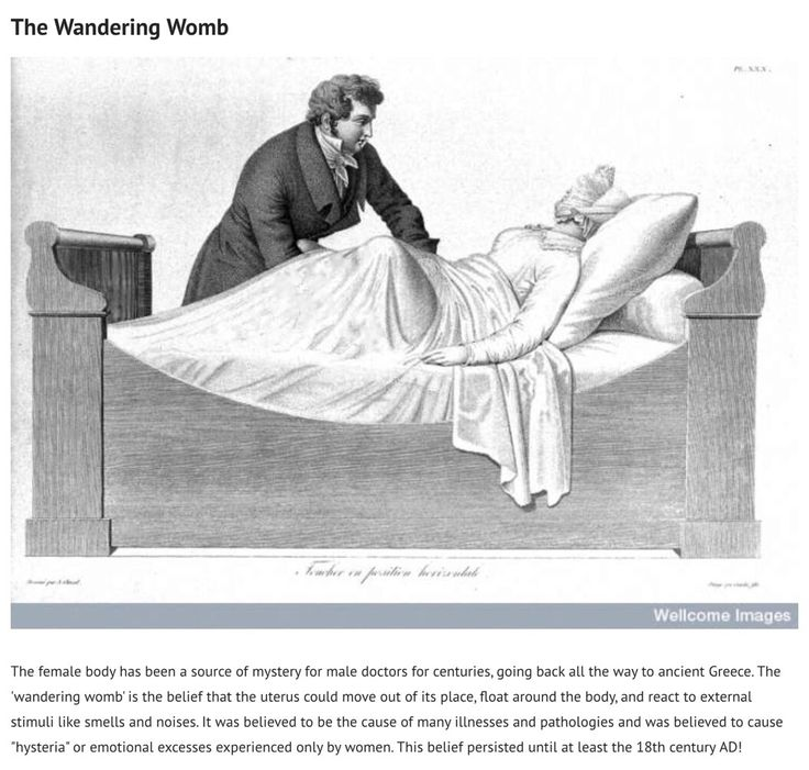 the wandering womb | things people used to think we're healthy