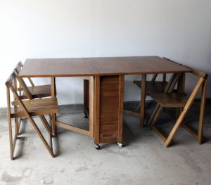 Drop Leaf Table Folding Chairs Inside