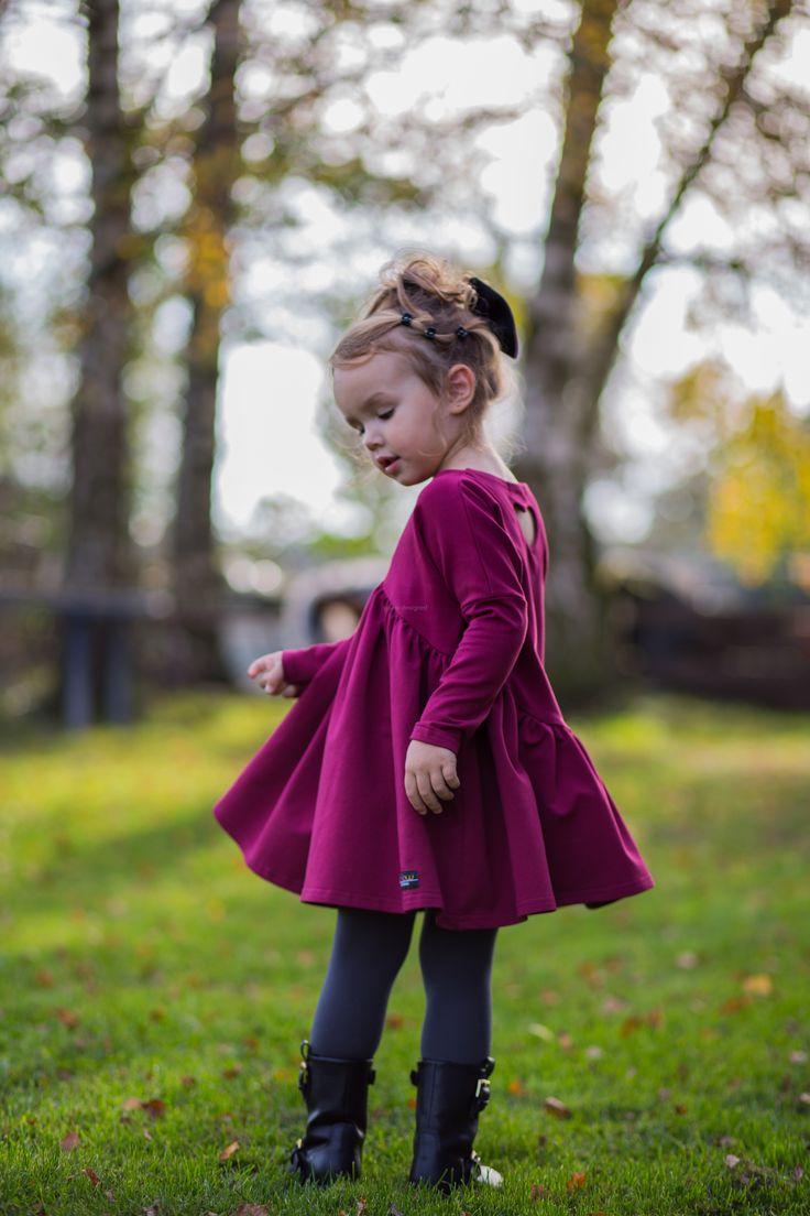 Marszczona sukienka Bordowa ynlow-designed