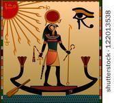 古代,古代,アテネ,樹皮,神,エジプト,エジプト,神,象形文字,イラスト,壁画,パンテオン,ファラオ,宗教,レトロ