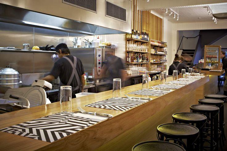 The open kitchen at Mason's of Bendigo.