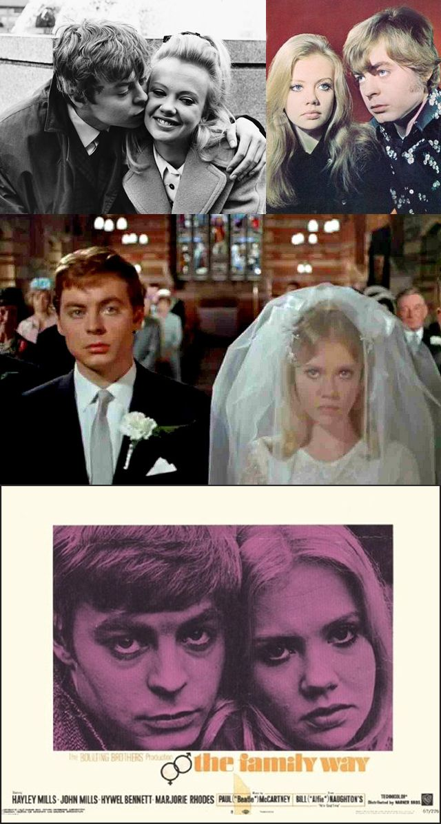 Hayley Mills & Hywel Bennett in The Family Way (1966)