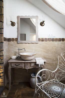 Baños de estilo rústico por k.halemska