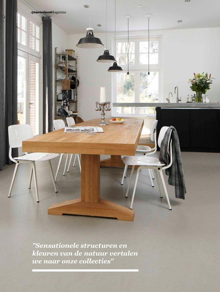 Forbo Flooring NL - Marmoleum thuismagazine Piet Boon Marmoleum Concrete [heeft Gerwald]> mooi voor keuken en eetkamer.