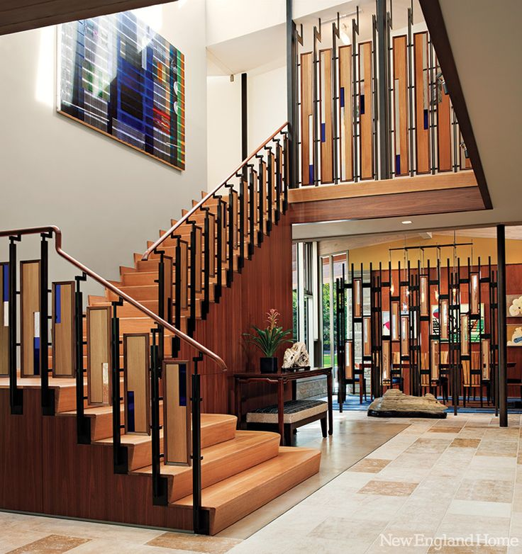 Joslin Incorporated Steel, Wood And Stained Glass In The Entrywayu0027s  Ornamental Stairwell, A Design