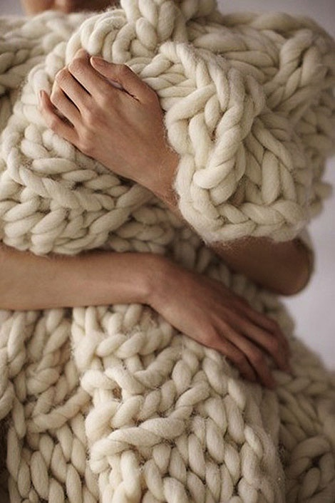 Want this blanket. Someone knit me this. Now please. Thanks.