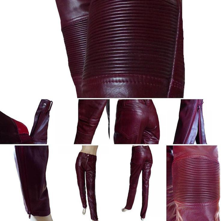 Damen Lederhose magenta weinrot geriffelt Biker Optik Style New Fashion #lederhose #leather #pants #biker #lederbekleidung #clothes #motorcycle #fashion #münster #münchen #style #wein #weinrot #bordeaux #501 #schnitt #pocket #new #photooftheday #fotodestages #collection #neu #hose #darkroom #damen #mode #model #geriffelt
