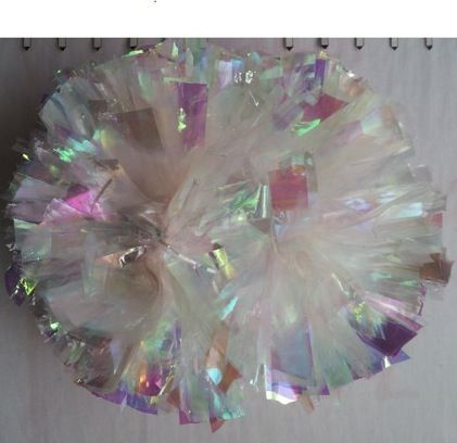 Clear and laser pom poms available from $15 each