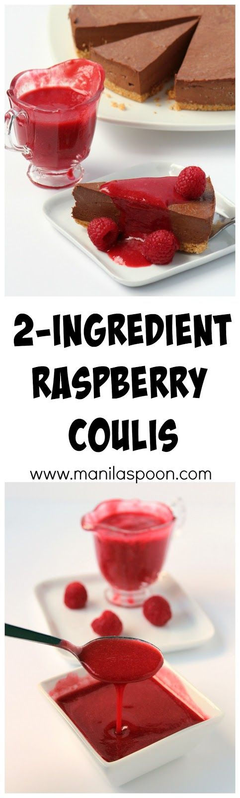 Need a delicious fruity topping for your dessert? This versatile, quick and easy 2-Ingredient Raspberry Coulis (sauce) is perfect for cheesecakes, ice creams, waffles, pancakes and so much more.