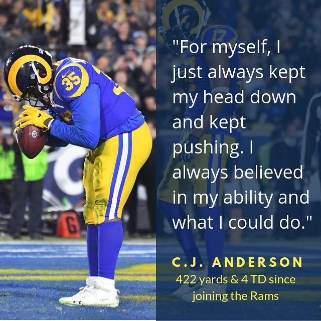 Locked On Rams On Instagram 4 Weeks Ago Today Cjandersonrb9 Signed With The La Rams Since Then Anderson Is Averaging An O La Rams Nfl Quotes Rams Football