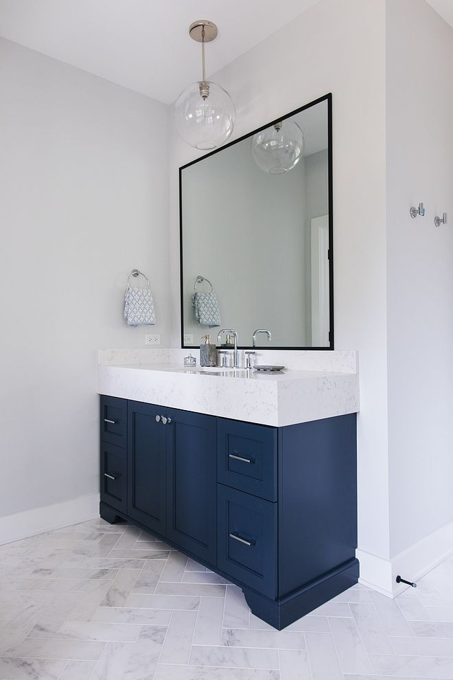 Interior Design Ideas Small Lot Modern Farmhouse In 2020 Blue Bathroom Vanity Blue Vanity Blue Bathroom