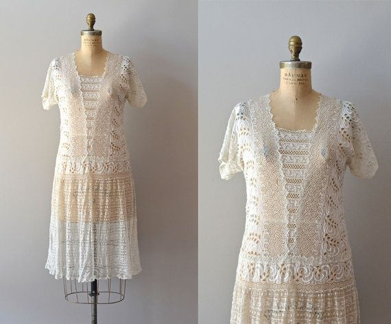 Orlaya dress / lace 20s dress / vintage 1920s dress by DearGolden, $545.00