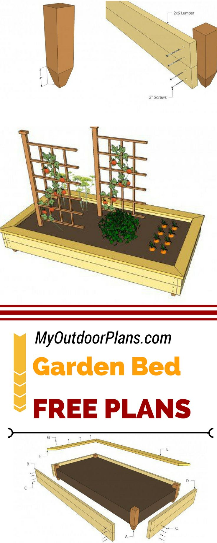 28 best images about garden planter plans on pinterest for Garden planter plans