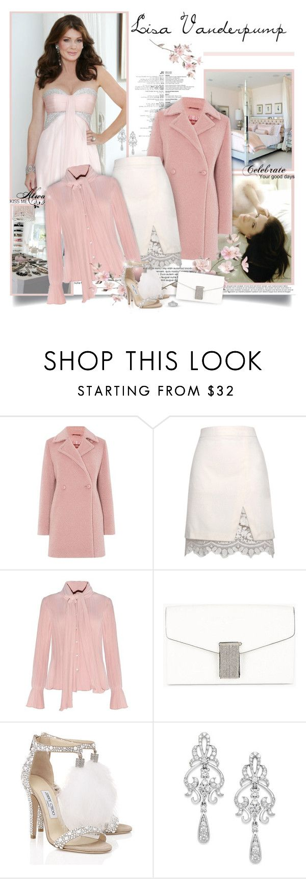 """""""Lisa Vanderpump - The Real Housewives of Beverly Hills"""" by chris101287 ❤ liked on Polyvore featuring Love Quotes Scarves, MaxMara, Relaxfeel, Brunello Cucinelli, Jimmy Choo, Wrapped In Love, Tiffany & Co., women's clothing, women and female"""