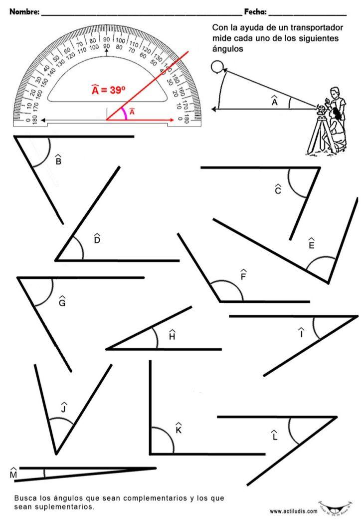 Imagen Relacionada Medicion De Angulos Angulos Matematicas Matematicas