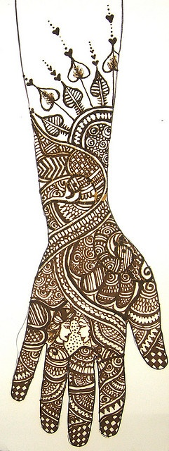 design by Bhavini Gheravara by bethlock3, via Flickr Absolutely love the faces in the middle of the hand!