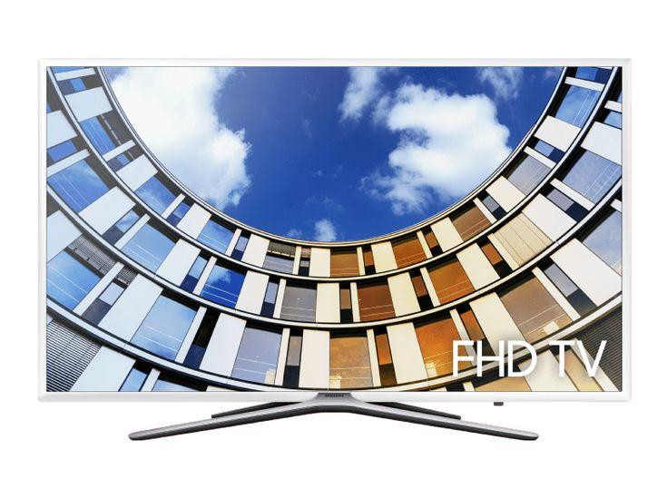 De Samsung UE49M5510 is een Full HD-tv met beeldscherm van 49 inch, smart remote, stijlvol wit design en toegang tot apps als Netflix en YouTube.