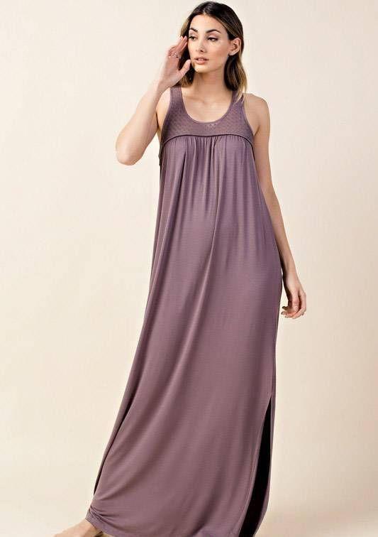 1276fdaaed2b Plum dress - Long dress - Spring dress - Summer dress - Mother's Day Gift