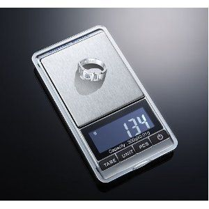 Engiveaway®New 300g x 0.01g Mini Digital Jewelry Pocket Gram Scale by Engiveaway. $17.98. Accuracy is rated to 0.01g.. New 300g x 0.01g Mini Digital Jewelry Pocket Gram Scale. This is a high precision electronic scale. It is very suitable for jeweler and laboratory using.. It can weighing the minimal things of the same class like jewelry,chemical agent.. Specifications: Maximum scale:300g Minimum scale: 0.01g 7 Unit Switch:g/oz/ozt/dwt/ct/ti/gn LCD  Display:5 bit LCD display Bri...