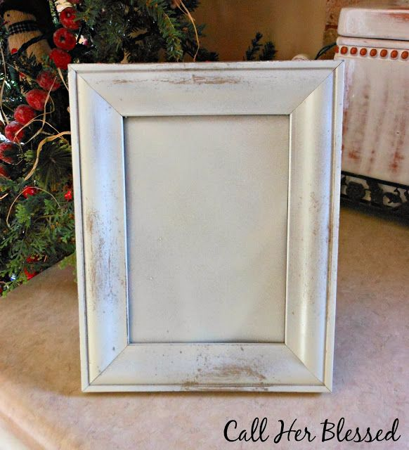 distressing frames {wood} with a bar of soap & spray paint   crafts ...