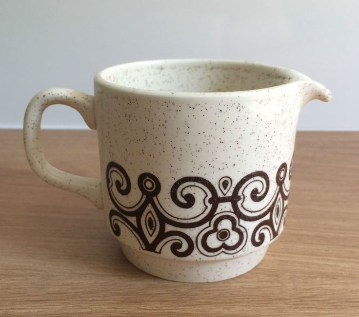 Vintage 70 s - Biltons Milk/ Cream Jug - Brown Pattern - Made in England