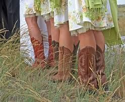 Cowgirl boots. Cowgirl boots and dresses. :)