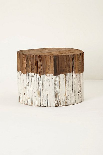 Dip-Dyed Side Table, Large  #anthropologie
